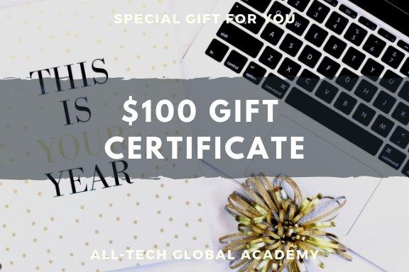 $100 gift certificates less 20% savings